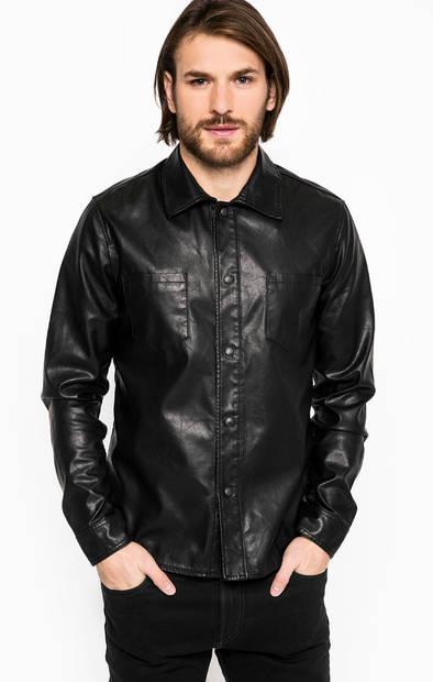 Черная приталенная рубашка