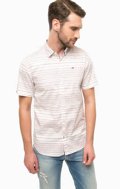 Рубашка в полоску с короткими рукавами