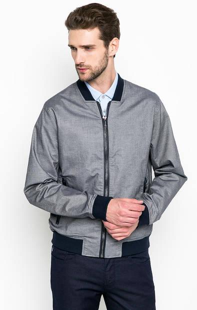 Хлопковая куртка с кожаной вставкой