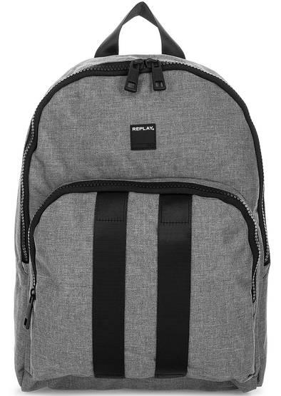Серый текстильный рюкзак