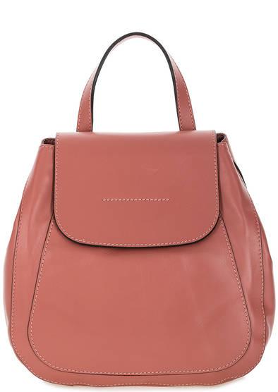Кожаный рюкзак с откидным клапаном