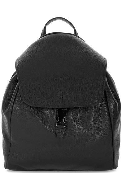 Вместительный кожаный рюкзак с тонкими лямками