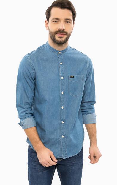 Джинсовая рубашка с длинными рукавами