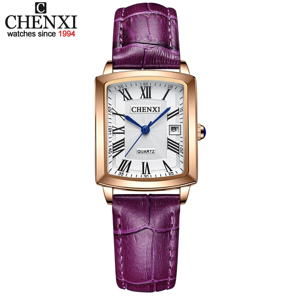 CHENXI модные женские часы Топ бренд класса люкс водонепроницаемые женские кварцевые часы с кожаным ремешком наручные женские часы Montre Femme