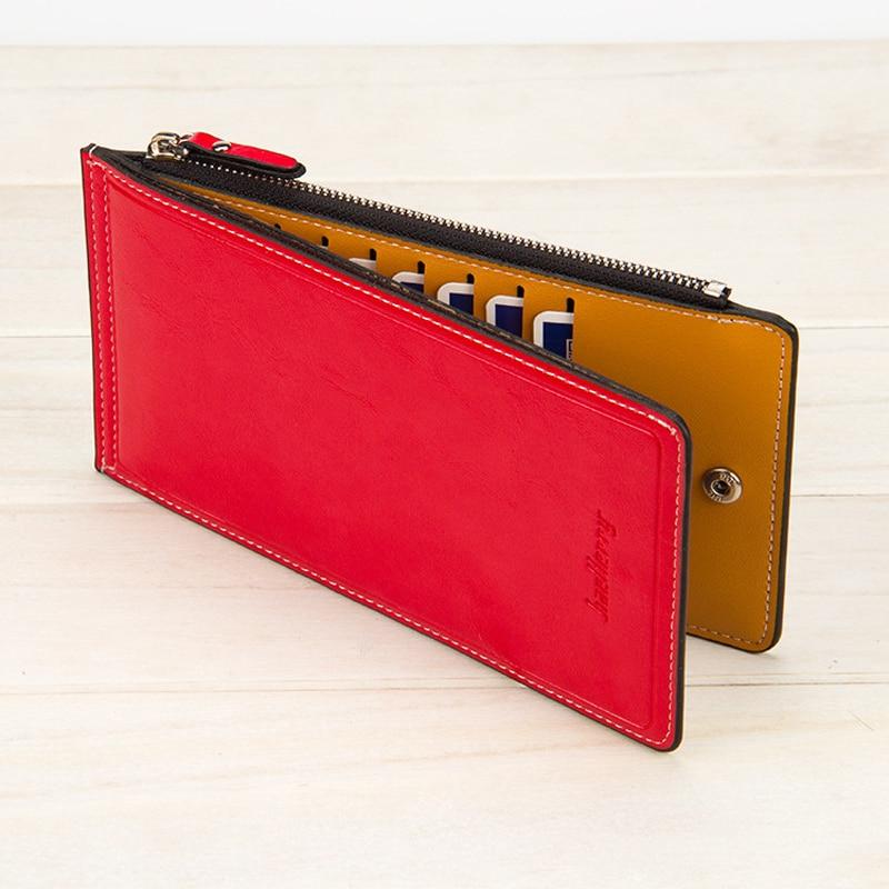 Длинный кожаный кошелек Baellerry для женщин, кредитница, Дамский клатч, бумажники на молнии с кармашком для мелочи, W166