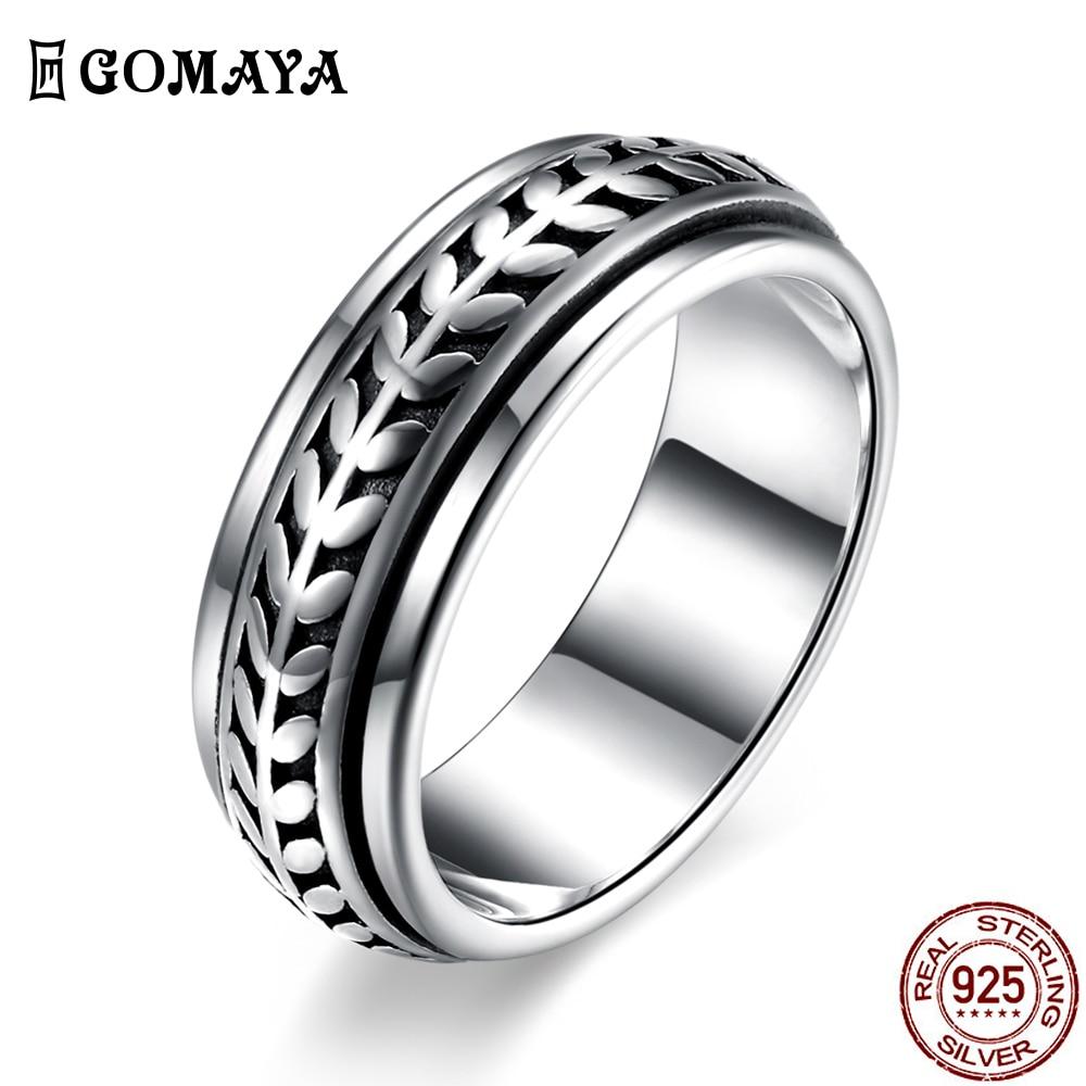 GOMAYA коктейльные кольца, винтажные уличные танцевальные кольца в стиле рок, панк, крутые готические Серебряные вечерние кольца унисекс для ж...
