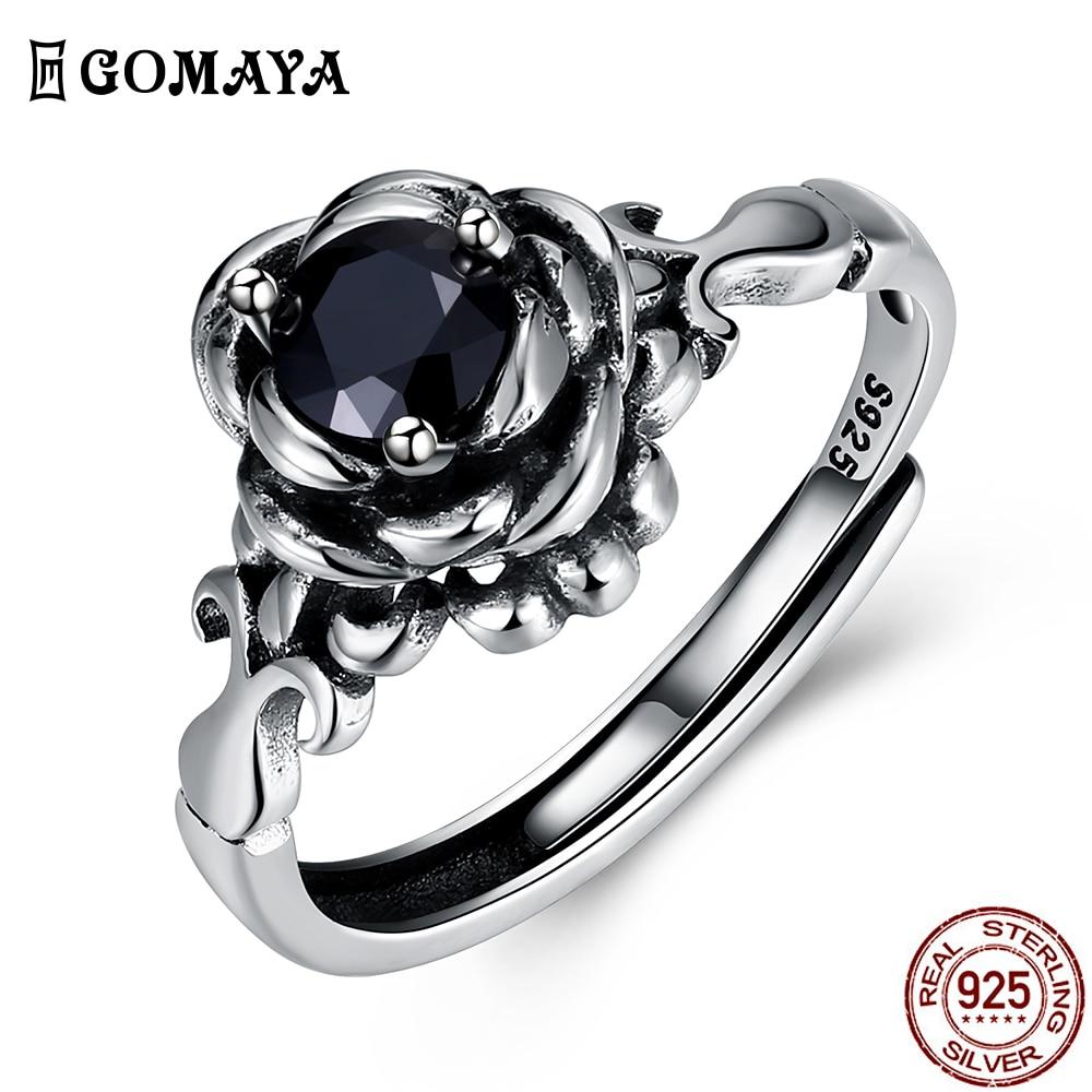 Кольцо GOMAYA из серебра 925 пробы в виде лотоса, регулируемое