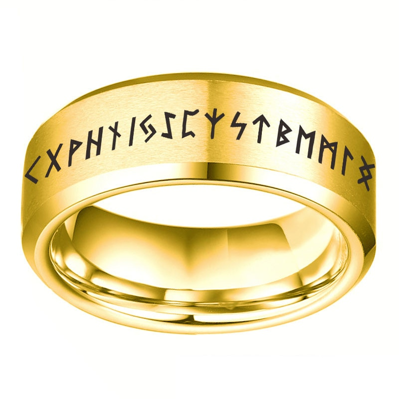Модные мужские кольца в стиле викингов, украшение на палец в стиле панк, металлические кольца в стиле ретро, черное кольцо, винтажные праздв...