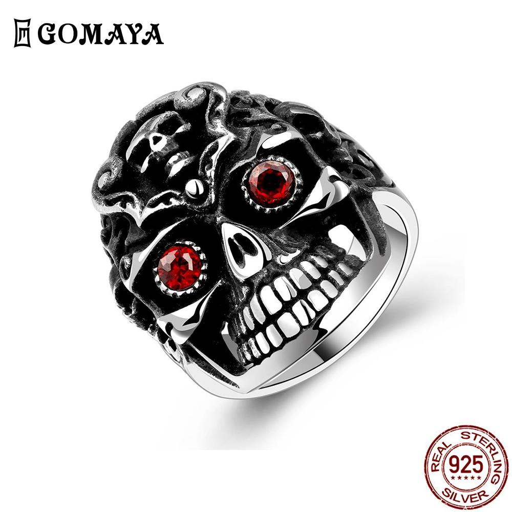 Мужские кольца GOMAYA из нержавеющей стали 316L, черное плоское кольцо, индивидуальный винтажный стиль, модные юбилейные украшения