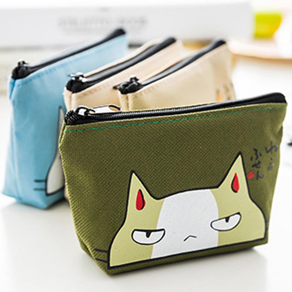 Новинка, кошельки с милым мультяшным котом для женщин и девочек, подарок для малышей, бумажники из искусственной кожи на молнии, сумка для кл...