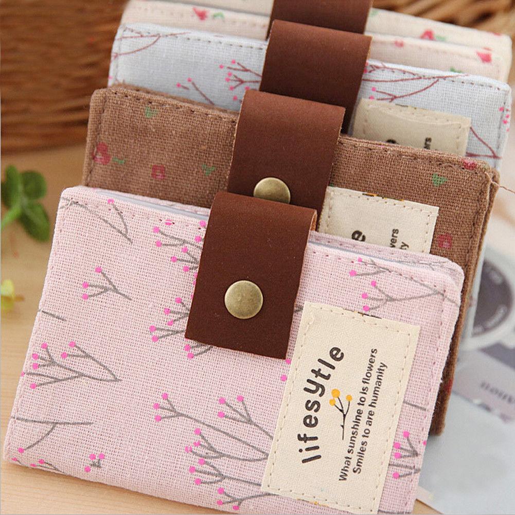 Женская парусиновая сумка-кошелек в ретро-стиле, с цветочным принтом
