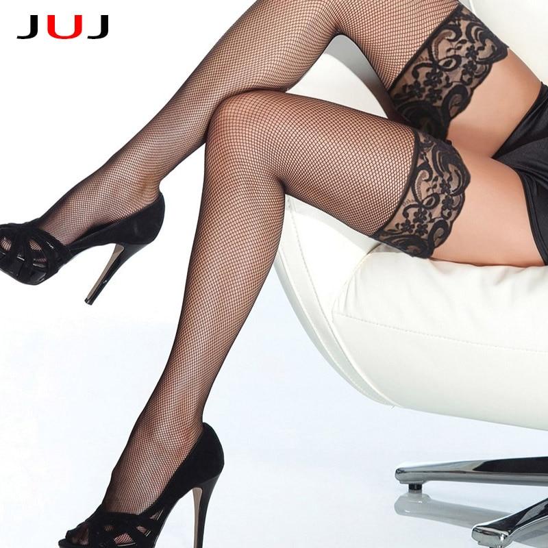 2021 сексуальные дизайнерские кружевные гольфы до бедра в сеточку, длинные носки, женские прозрачные высокие эластичные чулки, милые большие ...