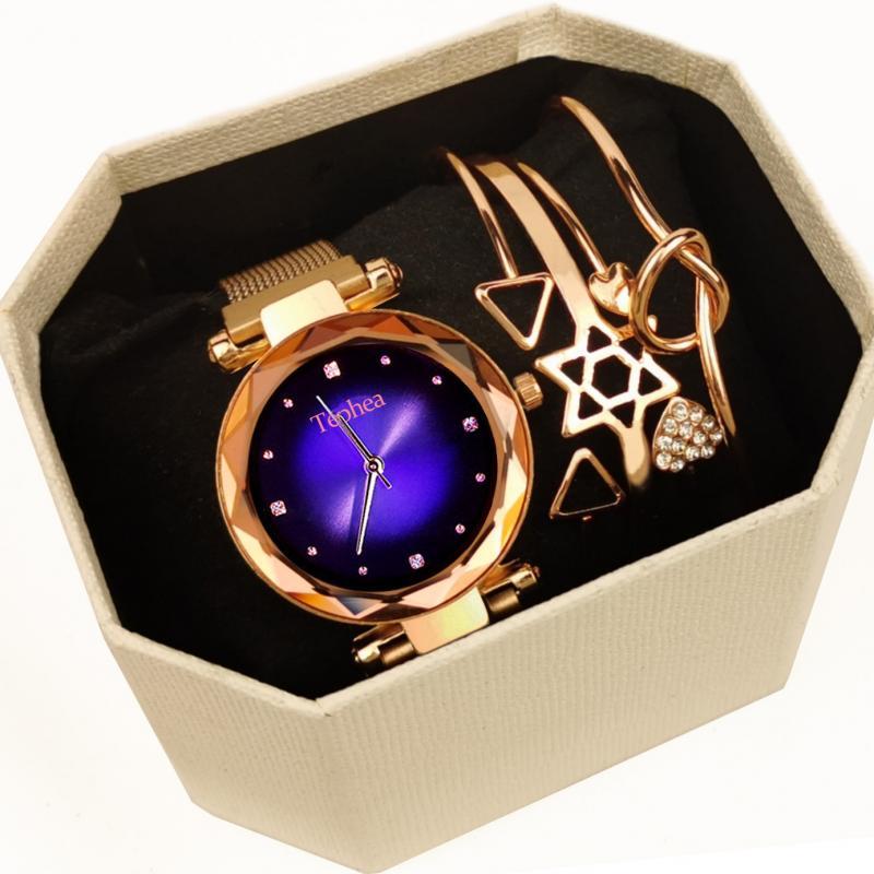 Часы наручные Tephea женские кварцевые с браслетом, роскошные брендовые модные с геометрическим рисунком на запястье