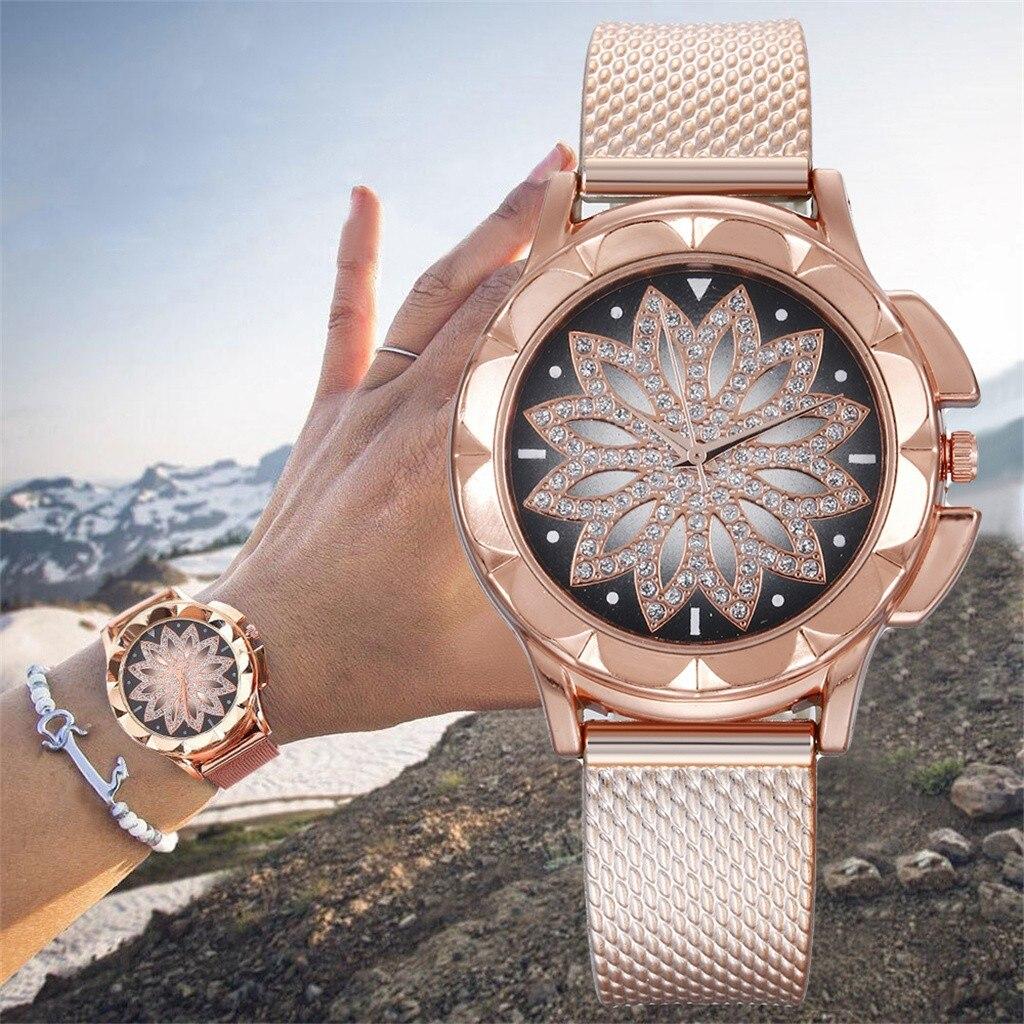 Часы наручные женские с стальным ремешком, модные брендовые креативные, 03 *