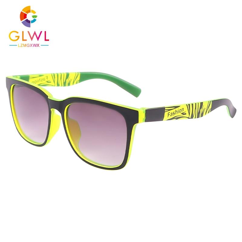 Детские солнцезащитные очки для мальчиков маленькие солнцезащитные очки с покрытием в квадратной оправе градиентные очки спортивные очки ...