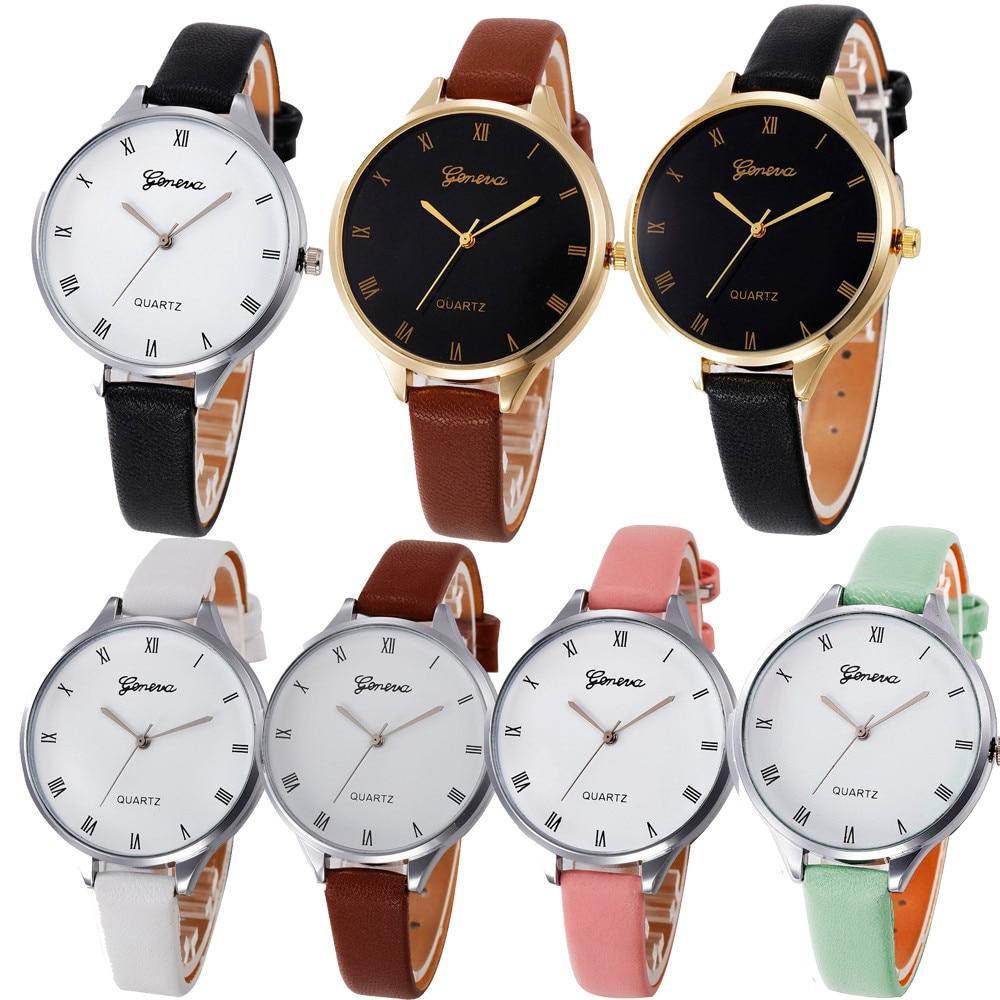 Фирменные часы для мужчин и женщин шашки искусственная кожа женские Кварцевые аналоговые наручные часы простые женские сплав часы Подароч...
