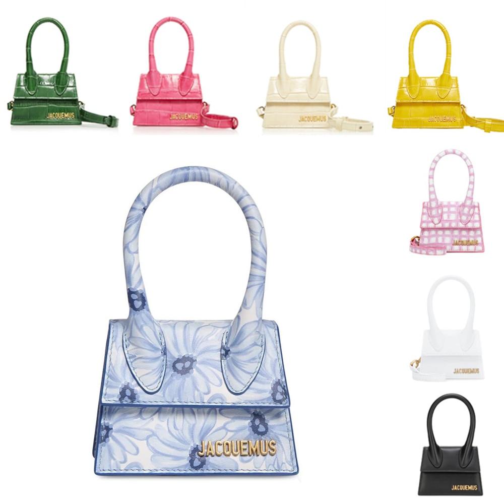 Jacquemus Брендовая женская кожаная сумка дизайнерские сумки через плечо маленькая сумка PU Сумка-мешок, новая однотонная женская сумка с откидн...