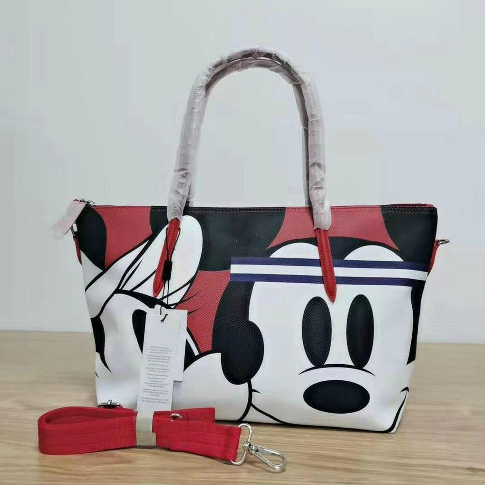 Крокрого Крокодил и Микки мультфильм печать модная женская сумка большая Повседневная сумка тоут сумка шоппер сумка на плечо