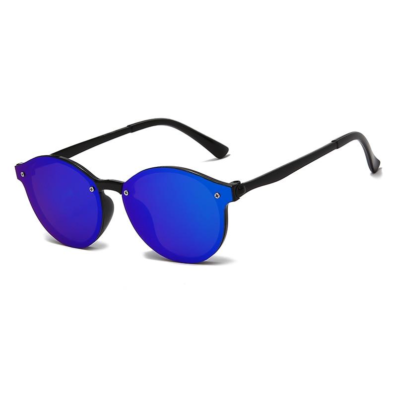 Круглые солнцезащитные очки унисекс, цветные винтажные, модные дизайнерские солнечные очки от известного бренда UV400 для мужчин и женщин