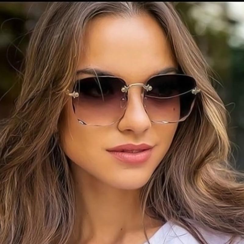 Квадратные Солнцезащитные очки, металлические пикантные красочные женские дизайнерские модные солнцезащитные очки от известного бренда ...
