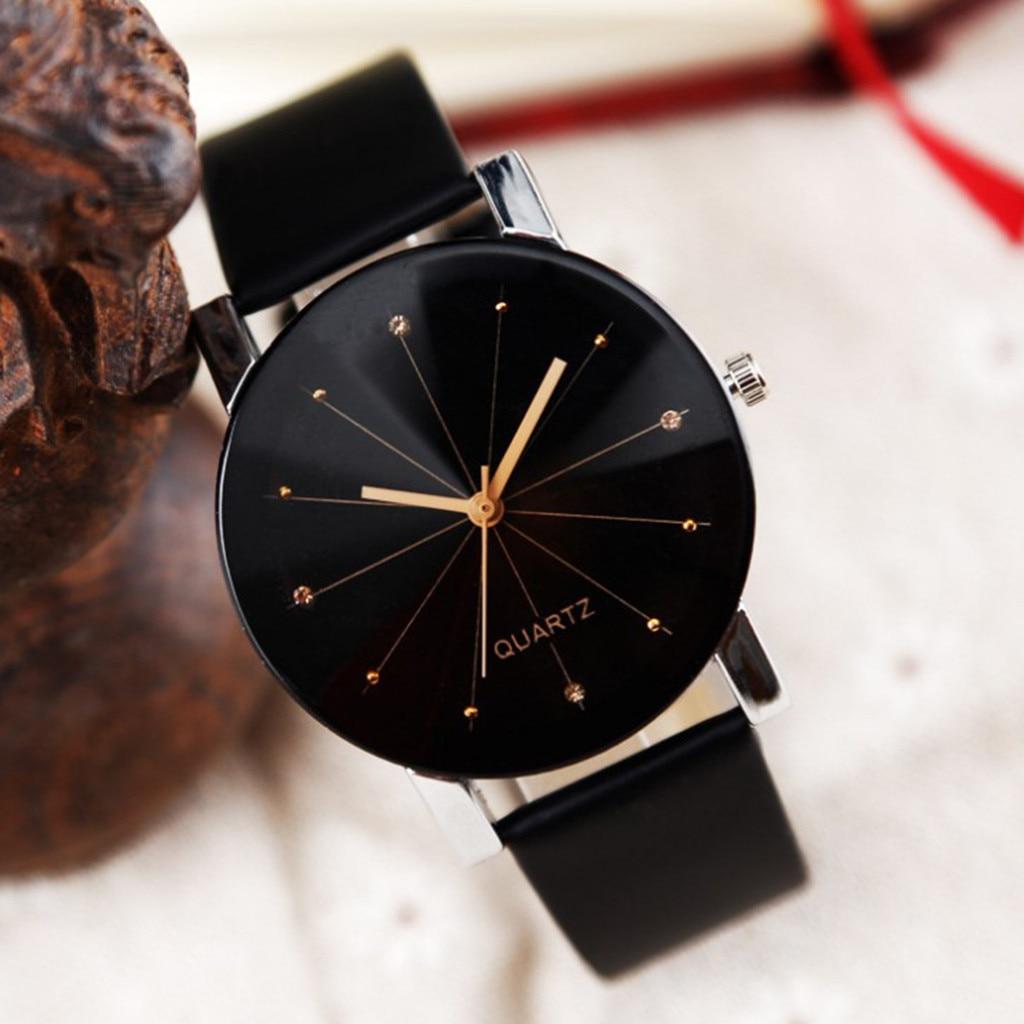 Мужские и женские часы с кожаным ремешком, аналоговые Кварцевые женские наручные часы, модные часы, женские часы, брендовые роскошные часы