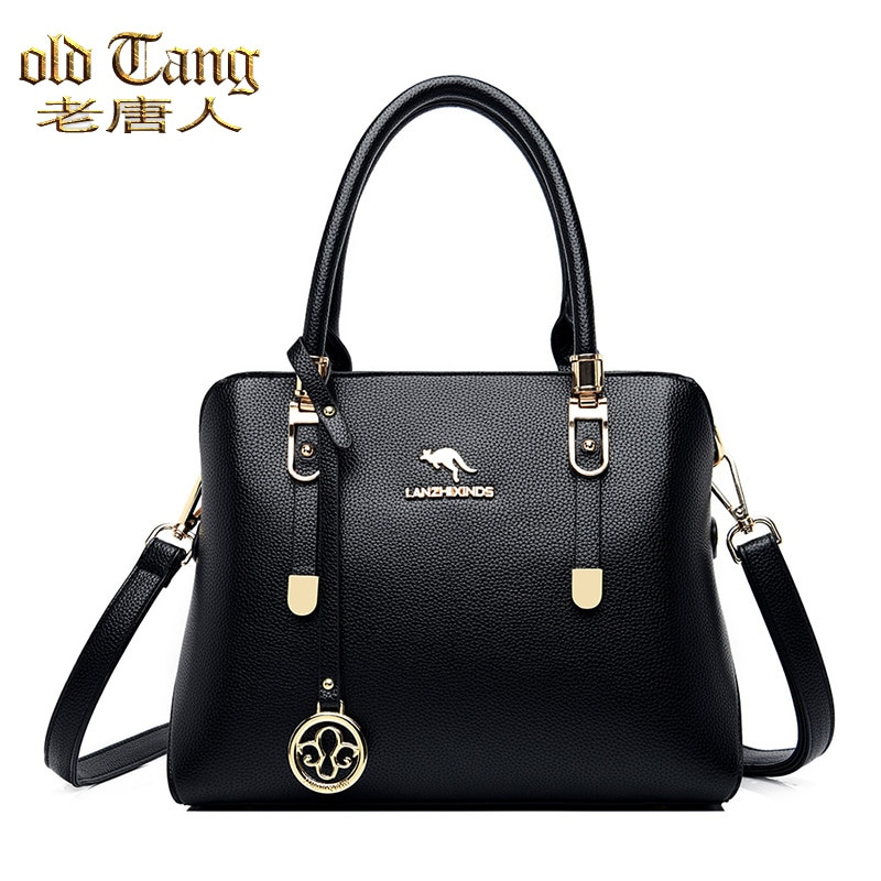 Новинка, модные высококачественные женские сумки OLD TANG из искусственной кожи, вместительные повседневные Простые сумки-мессенджеры через п...