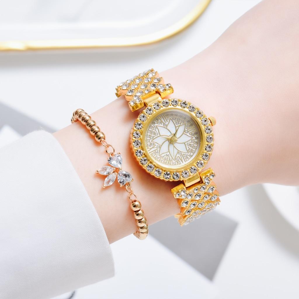 Новые женские круглые наручные часы золотистые Серебристые кварцевые часы простые элегантные модные роскошные подарки для женщин брендов...