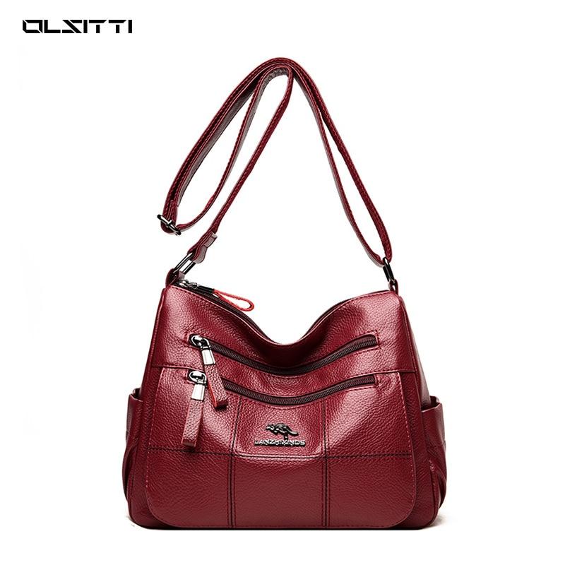 OLSITTI высококачественные сумки через плечо из искусственной кожи для женщин 2021 новые дизайнерские модные однотонные сумки через плечо с нес...