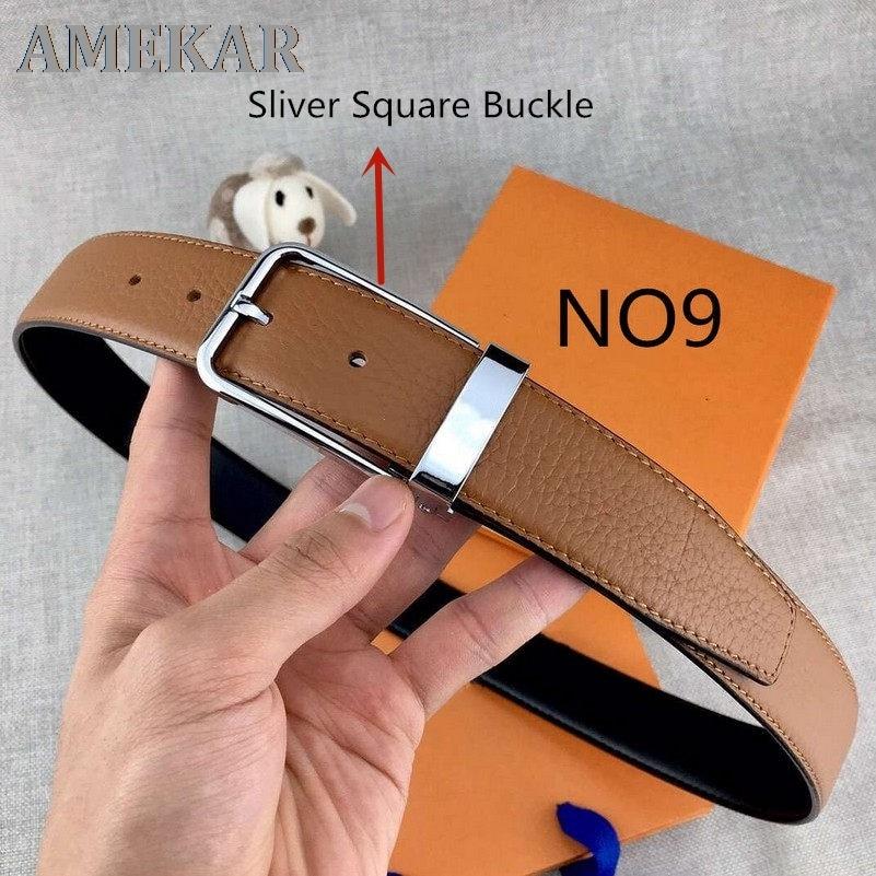 Ремень кожаный с пряжкой-иглой для мужчин и женщин, ширина 3,4 см