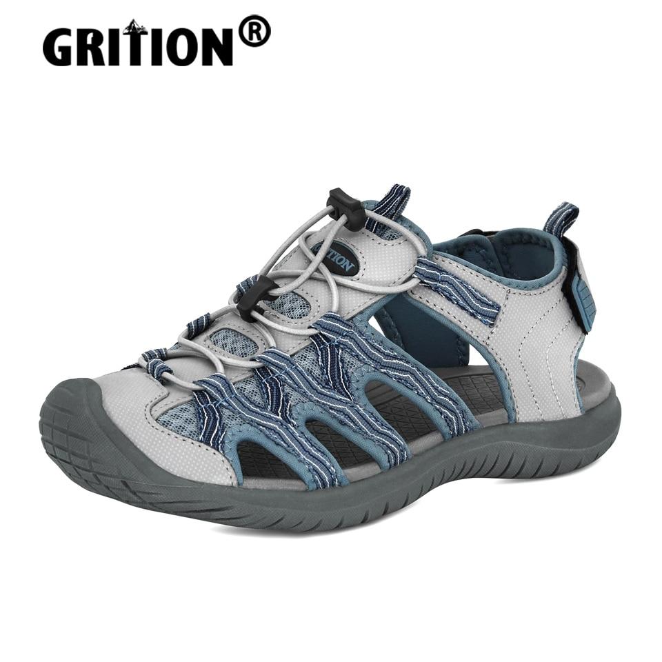 Сандалии GRITION женские нескользящие, пляжная обувь для активного отдыха, походов, пешего туризма, плоская подошва, гладиаторы, большие размер...