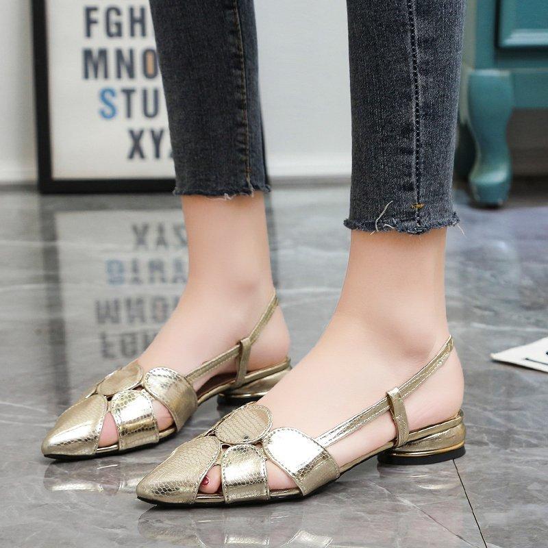 Сандалии женские на танкетке, босоножки на высоком каблуке, без застежки, с пряжкой, обувь для офиса и работы, лето 2021