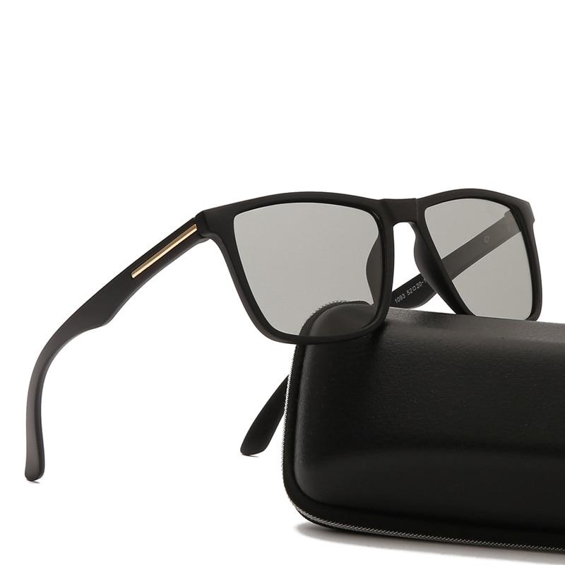 Солнцезащитные очки поляризационные для мужчин и женщин, фотохромные солнечные аксессуары в квадратной оправе, с поляризацией, от солнца