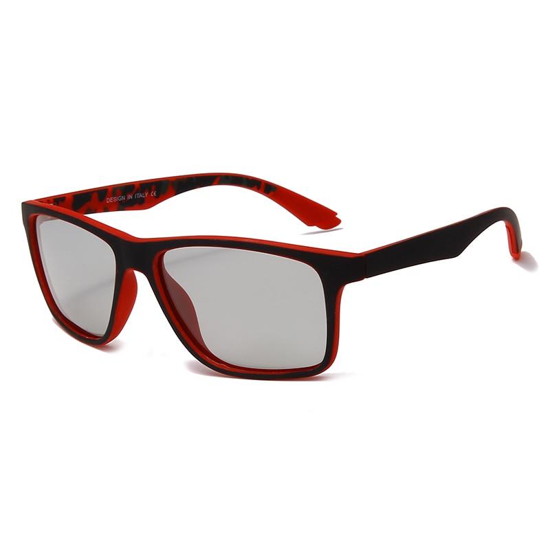 Солнцезащитные очки поляризационные для мужчин и женщин UV-400, фотохромные, квадратные, с защитой от ультрафиолета