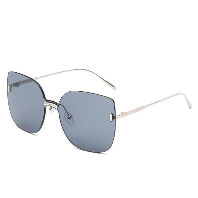 Солнечные очки Cateye в металлической оправе для мужчин и женщин, пикантные модные солнцезащитные аксессуары от известного бренда, в стиле рет...